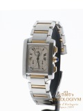 Cartier Tank Francaise Chronoflex Two-Tone watch, two-tone (bi-colored) silver and yellow gold