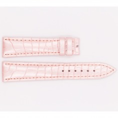 Leather Ulysee Nardin Strap, satin pink