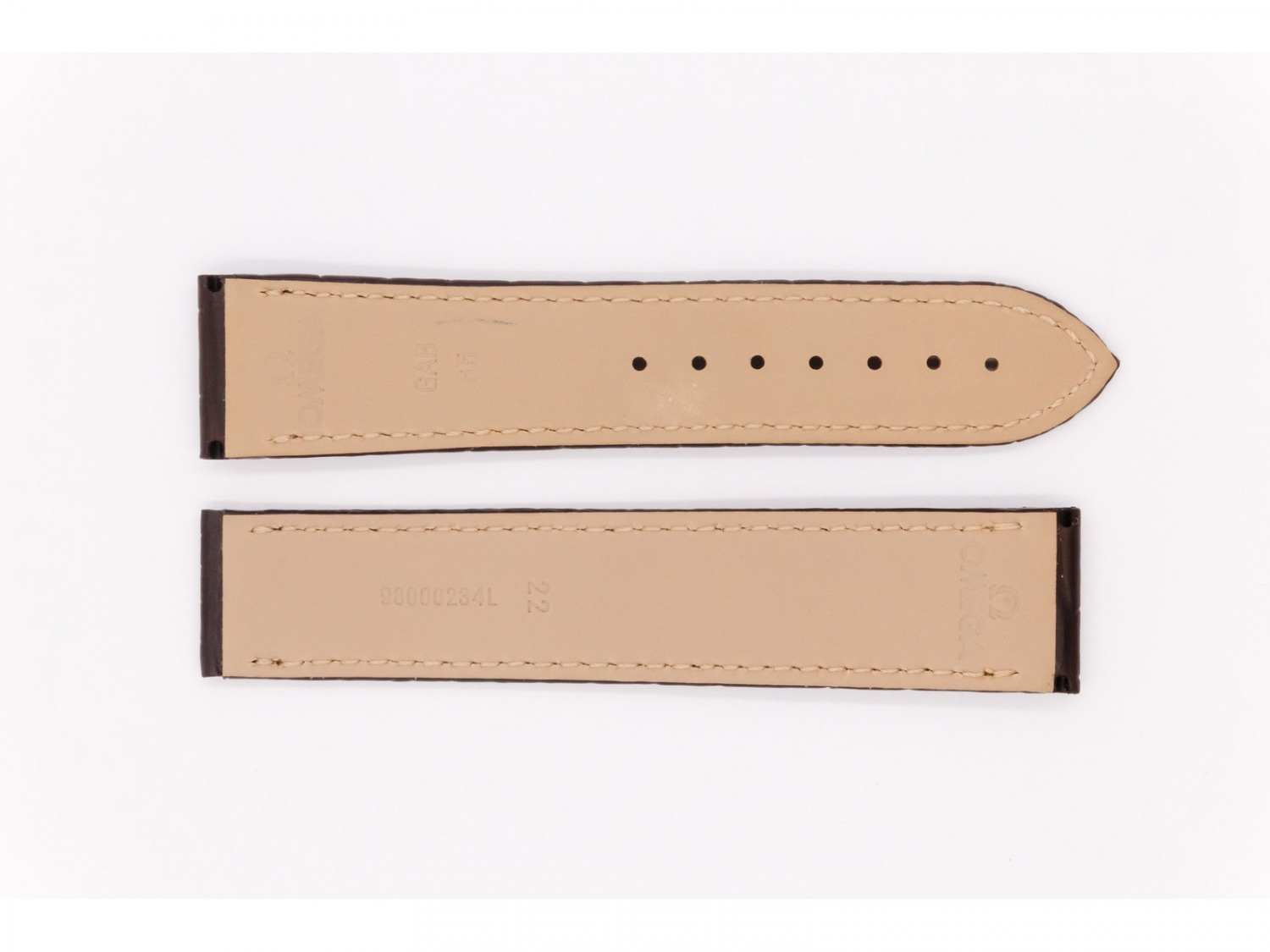 Leather Omega Strap, dark brown