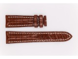 Croco Veritable Leather Breitling Strap, light brown