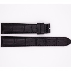 Leather Maurice Lacroix strap, matte black