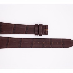 Leather Maurice Lacroix strap, matte dark brown