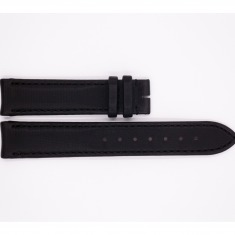 Satin and Leather Aerowatch strap, matte black
