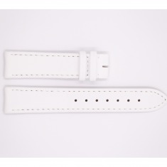 Satin and Leather Aerowatch strap, white