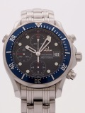 Omega Seamaster Chronograph Diver 300M Blue Dial watch, silver