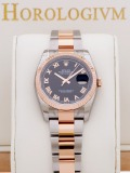 Rolex Datejust Two-Tone 36MM Black Dial Roman Numerals watch, two - tone (bi - colored) silver and rose gold