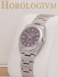 "Rolex Oyster Perpetual 34 MM ""Red Grape"" watch, silver"