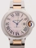 Cartier Ballon Bleu TwoTone 33 MM watch, silver