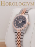 Rolex Datejust Two Tone 36MM Black Dial watch, two - tone (bi - colored) silver and rose gold