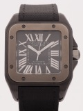 Cartier Santos 100 XL watch, matte black