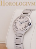 Cartier Ballon Bleu 42MM watch, silver
