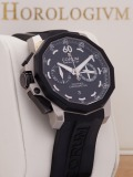 Corum Admiral'S Cup Chronograph Left Handed 50MM LE 888 pcs watch, silver (body) and black (bezel)