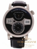 A Lange & Sohne Zeitwerk watch, white gold