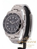 Rolex Oyster Perpetual Date Submariner 40MM watch, silver (case) and black (bezel)