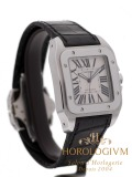 Cartier Santos 100 watch, silver