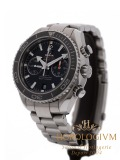 Omega Seamaster Planet Ocean Co-Axial Chronograph 600M watch, silver (case) and grey-black (bezel)