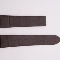 Leather Cartier Strap, dark brown